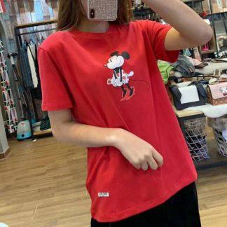 2020夏新款miumiu迪士尼米妮宽松t上衣百搭时尚